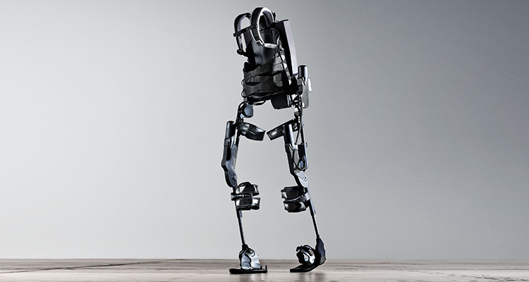 Ekso Bionics' GT battery powered exoskeleton