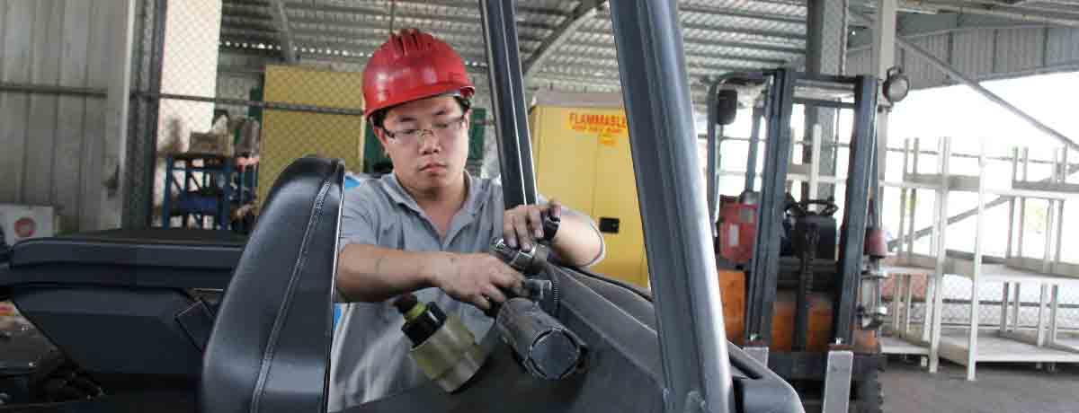 Preparing forklift trucks for operation in hazardous environments