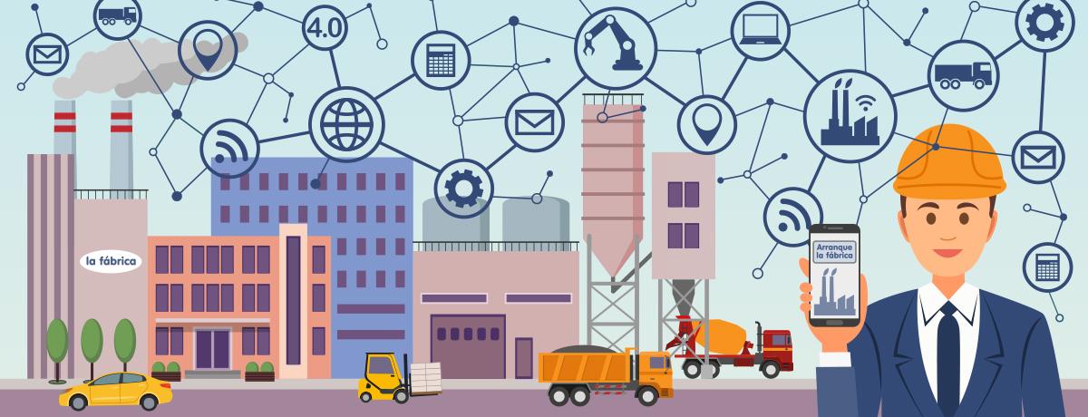 Las fábricas y la maquinaria de manipulación de materiales del futuro